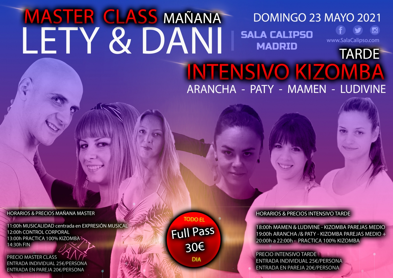 Super Intensivo MASTER CLASS + Intensivo TARDE | Domingo 23 Mayo 2021 | Sala Calipso