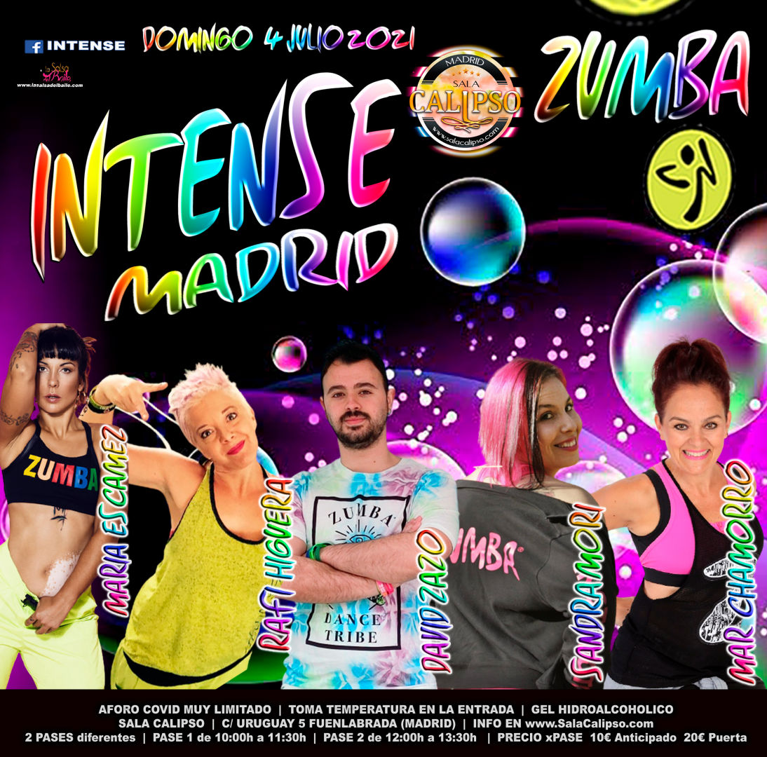 Intense Zumba edición Madrid  |  Domingo 4 Julio 2021
