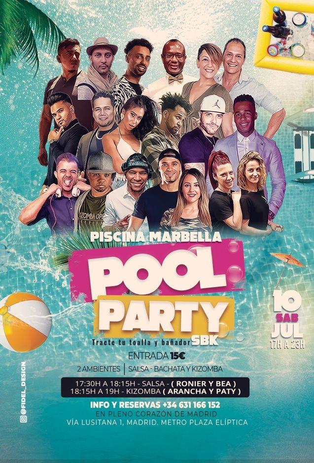 POOL PARTY SBK + 100% Kizz | Sabado 10 Julio 2021  |  Avda. Lusitana, 1 - MADRID CENTRO
