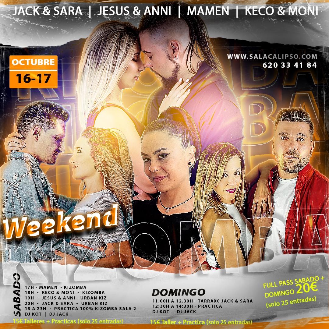 Weekend Kizomba 16-17 Octubre 2021  |  Sala Calipso