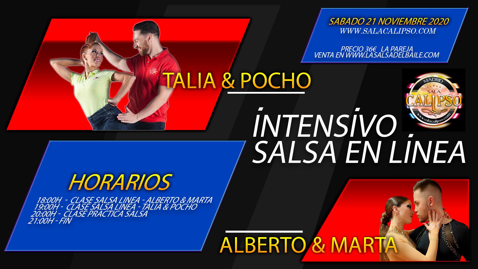 Intensivo SALSA LINEA - Sabado 21 Noviembre 2020