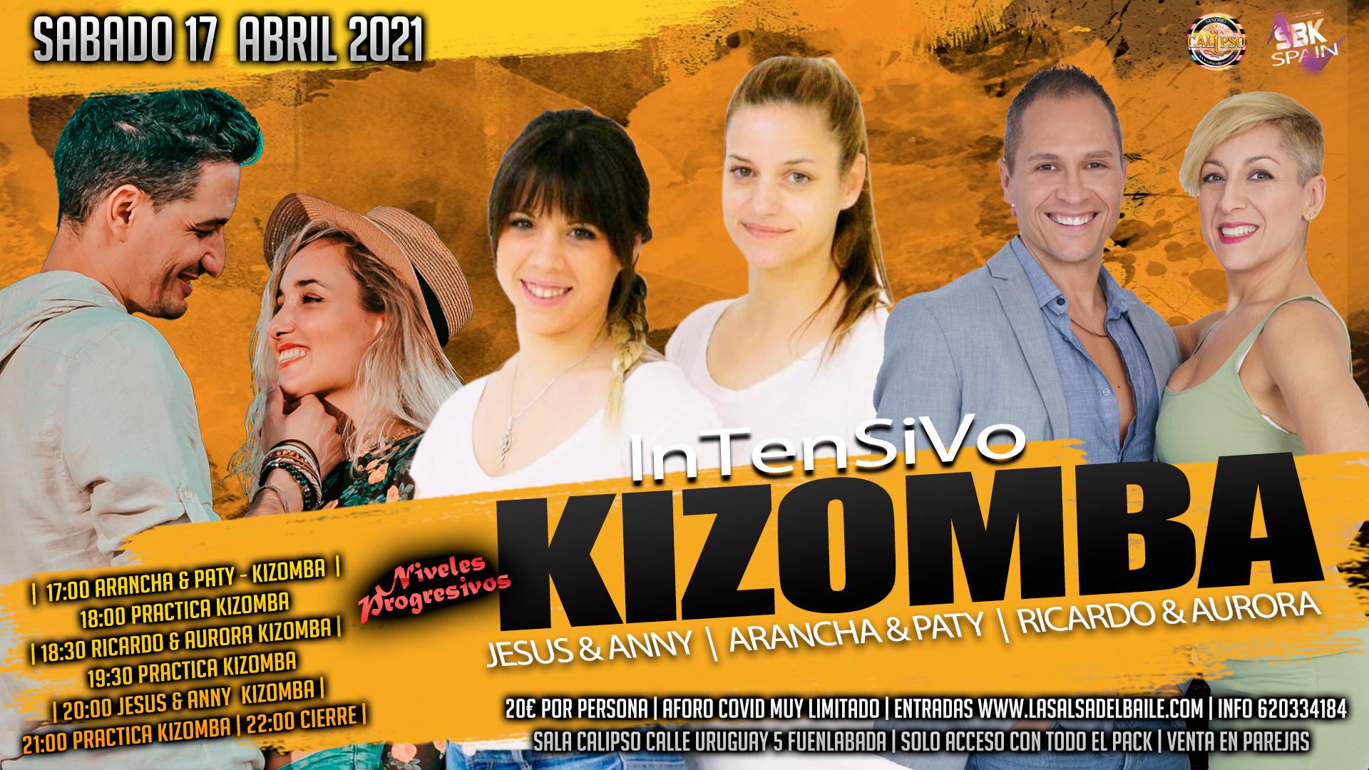 Intensivo Kizomba  - Sabado 17 Abril 2021
