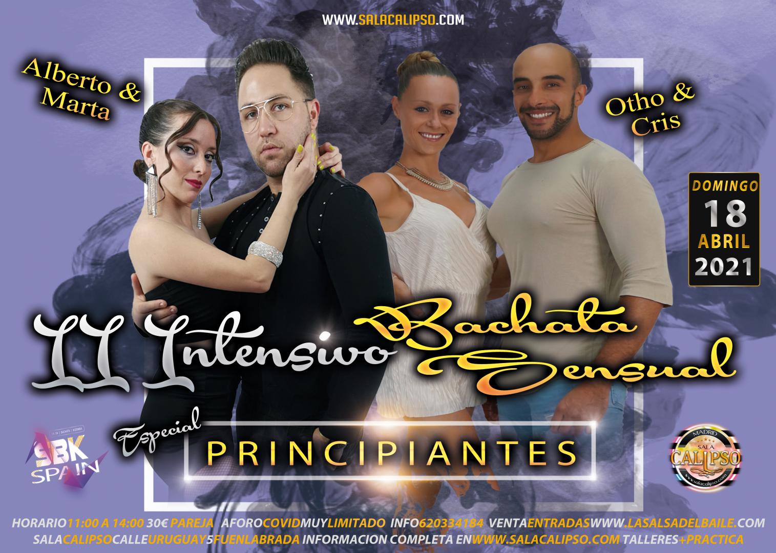 Intensivo Bachata Sensual para PRINCIPIANTES Dom18Abril2021