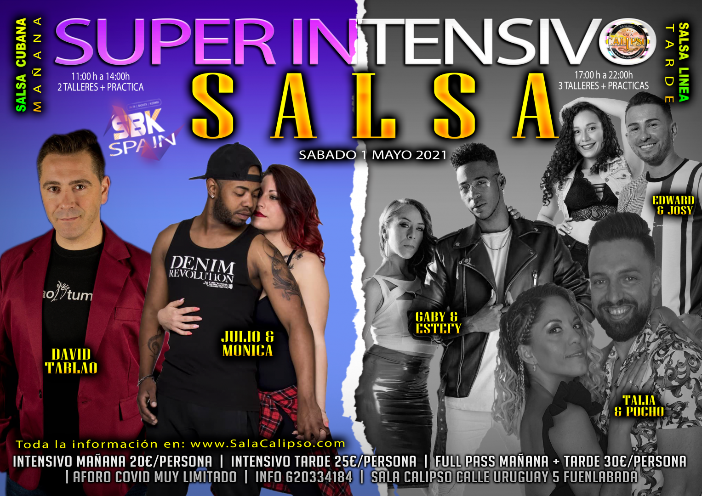 Super Intensivo SALSA CUBANA + LINEA Sabado 1 Mayo 2021