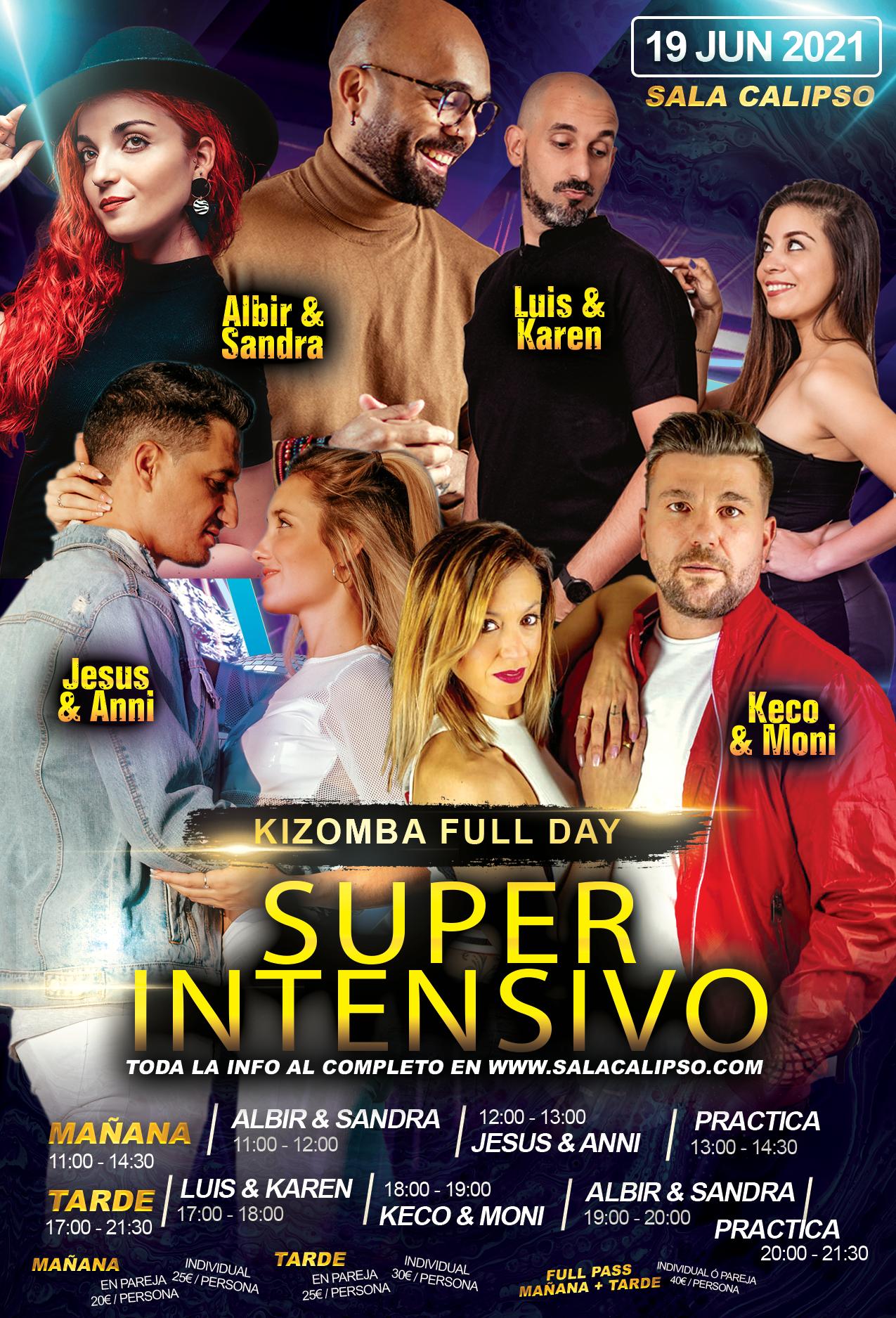 Super Intensivo Kizomba - Sabado 19 Junio 2021 - Sala Calipso