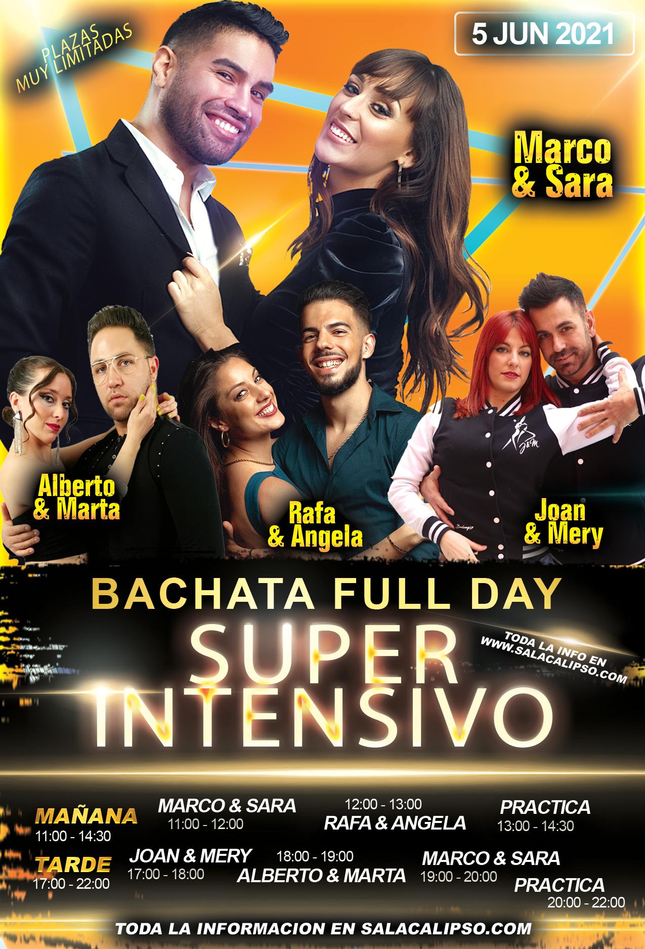 Super Intensivo Bachata - Sabado 5 Junio 2021 - Sala Calipso